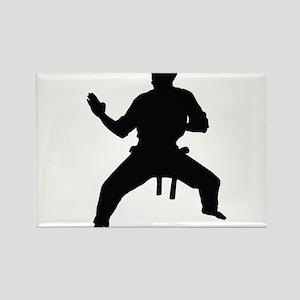 Karate Rectangle Magnet