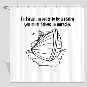 be realist Shower Curtain