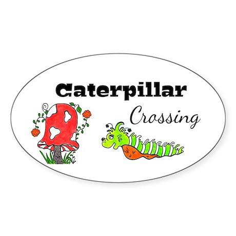 Caterpillar Crossing Sticker