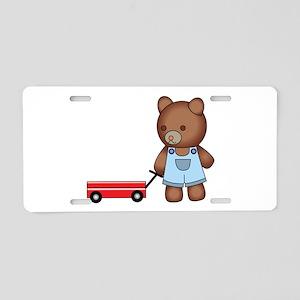 Boy Teddy Bear Aluminum License Plate