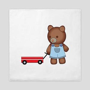 Boy Teddy Bear Queen Duvet
