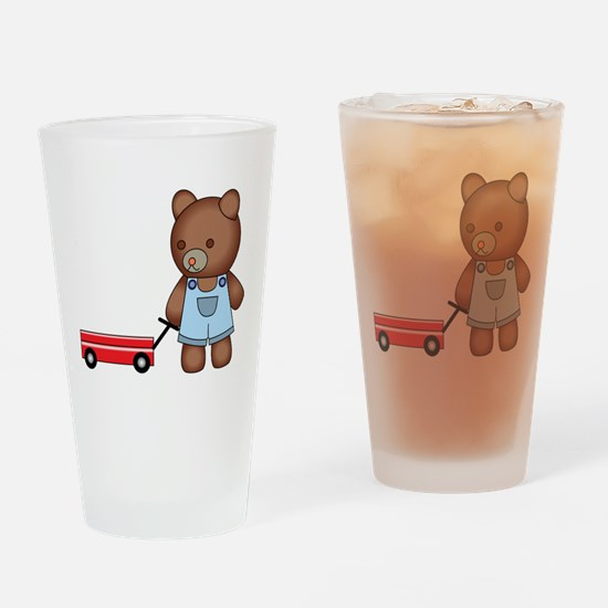 Boy Teddy Bear Drinking Glass
