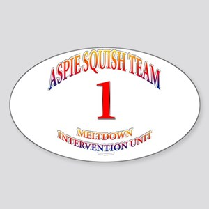 Aspie Squish Team Oval Sticker