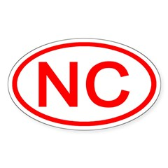 NC Oval - North Carolina Oval Decal