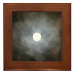 Cloudy Moon Framed Tile