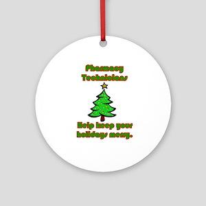 pharmacy technicians help kee ornament round - Pharmacy Christmas Ornaments