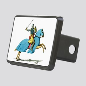 Armored Knight on Cloaked Horse Hitch Cover