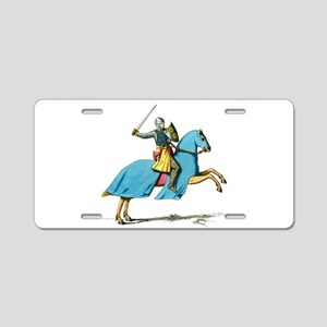 Armored Knight on Cloaked Horse Aluminum License P
