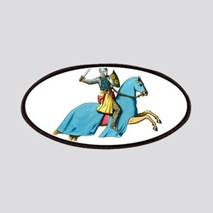 Armored Knight on Cloaked Horse Patches