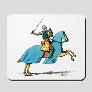 Armored Knight on Cloaked Horse Mousepad
