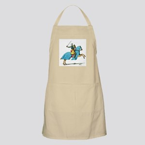 Armored Knight on Cloaked Horse Apron