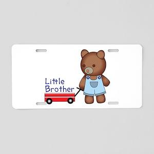 Little Brother Bear Aluminum License Plate