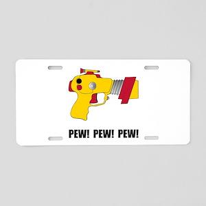 Laser Gun Pew Aluminum License Plate