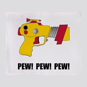 Laser Gun Pew Throw Blanket