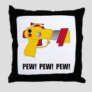 Laser Gun Pew Throw Pillow
