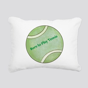 Personalized Tennis Rectangular Canvas Pillow