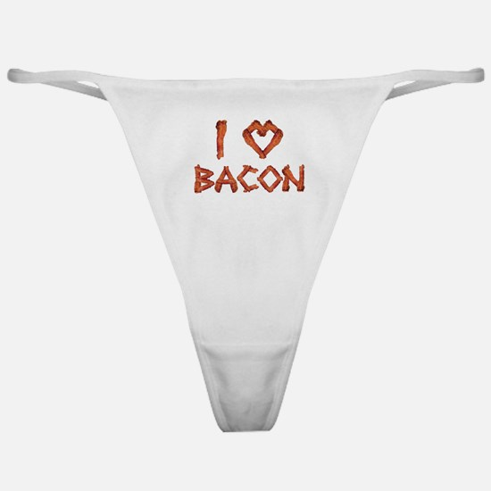 I Love Bacon Classic Thong