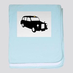 London Taxi baby blanket