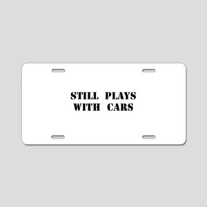 Plays With Cars Aluminum License Plate