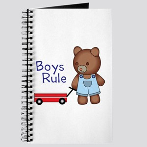 Boys Rule Bear Journal