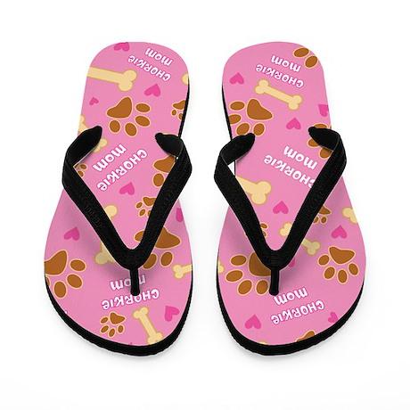Chorkie Mom Gift Flip Flops