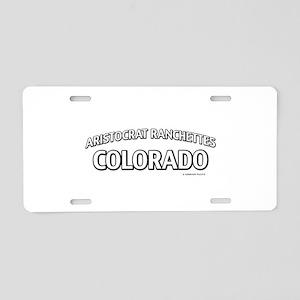 Aristocrat Ranchettes Colorado Aluminum License Pl