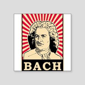 "Pop Art Bach Square Sticker 3"" x 3"""