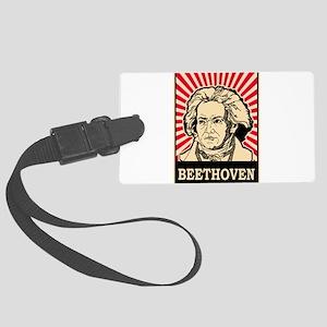 Pop Art Beethoven Large Luggage Tag