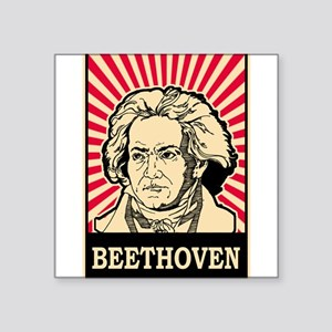 "Pop Art Beethoven Square Sticker 3"" x 3"""