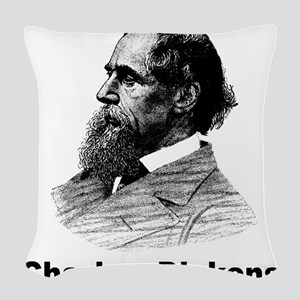 Charles Dickens Woven Throw Pillow