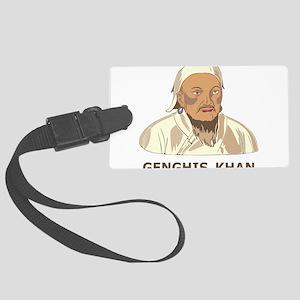 Genghis Khan Large Luggage Tag