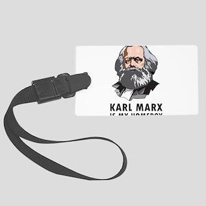 Karl Marx Is My Homeboy Large Luggage Tag