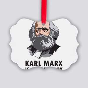Karl Marx Is My Homeboy Picture Ornament