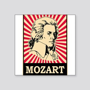 "Pop Art Mozart Square Sticker 3"" x 3"""