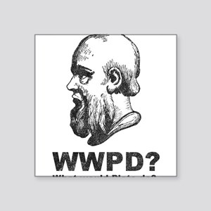 "What Would Plato Do? Square Sticker 3"" x 3"""