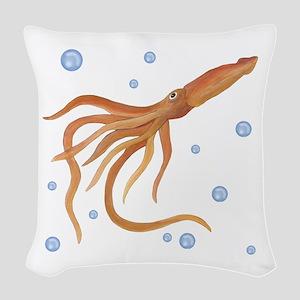 Squid Woven Throw Pillow