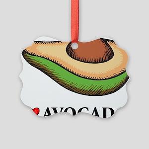 I Love Avocado Picture Ornament