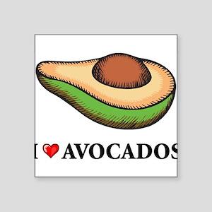 "I Love Avocado Square Sticker 3"" x 3"""