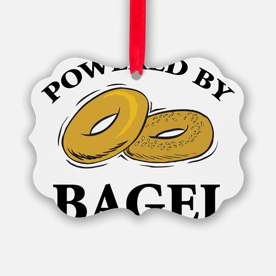Powered By Bagel Ornament