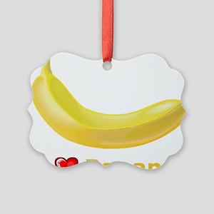 I Love Banana Picture Ornament