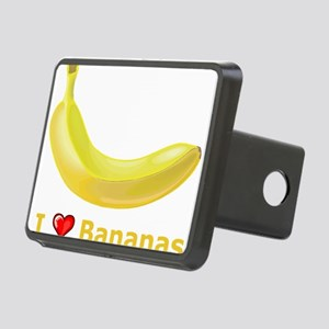 I Love Banana Rectangular Hitch Cover
