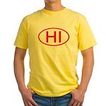 HI Oval - Hawaii Yellow T-Shirt