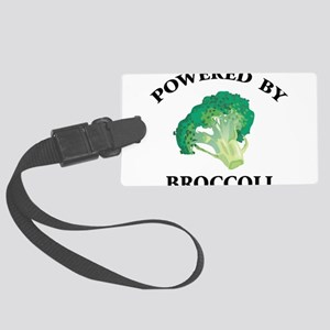 Powered By Broccoli Large Luggage Tag
