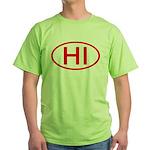 HI Oval - Hawaii Green T-Shirt