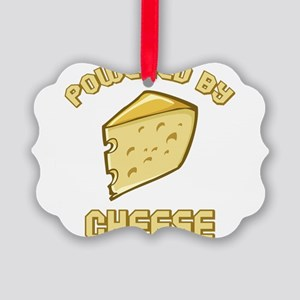 Powered By Cheese Picture Ornament