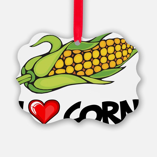 I Love Corn Ornament