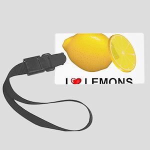 I Love Lemons Large Luggage Tag