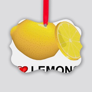 I Love Lemons Picture Ornament