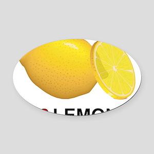 I Love Lemons Oval Car Magnet