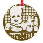 Vintage Pure Milk Round Ornament